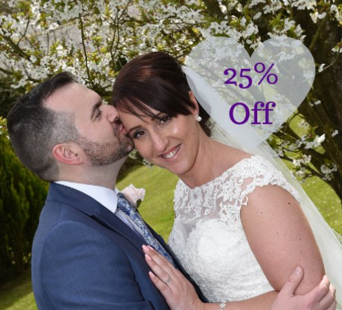 Cheap Wedding Offer - 25% Off Cherish Package